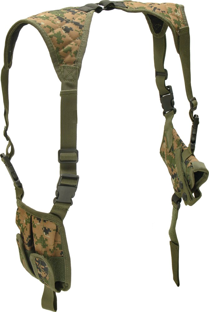 UTG Deluxe Universal Horizontal Shoulder Holster (Woodland Digital Camo)