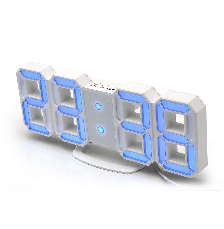Horloge Murale Senston R/éveil num/érique 3D LED Horloge num/érique minuterie R/éveil 3D LED avec 3 Niveaux de luminosit/é r/églables Fonction de r/ép/étition de la veilleuse