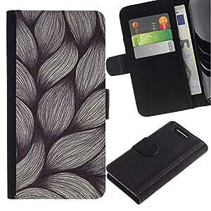 For Sony Xperia Z1 Compact / Z1 Mini / D5503,S-type® Weave Pen Art Drawing Sketch Vintage - Dibujo PU billetera de cuero Funda Case Caso de la piel de la bolsa protectora
