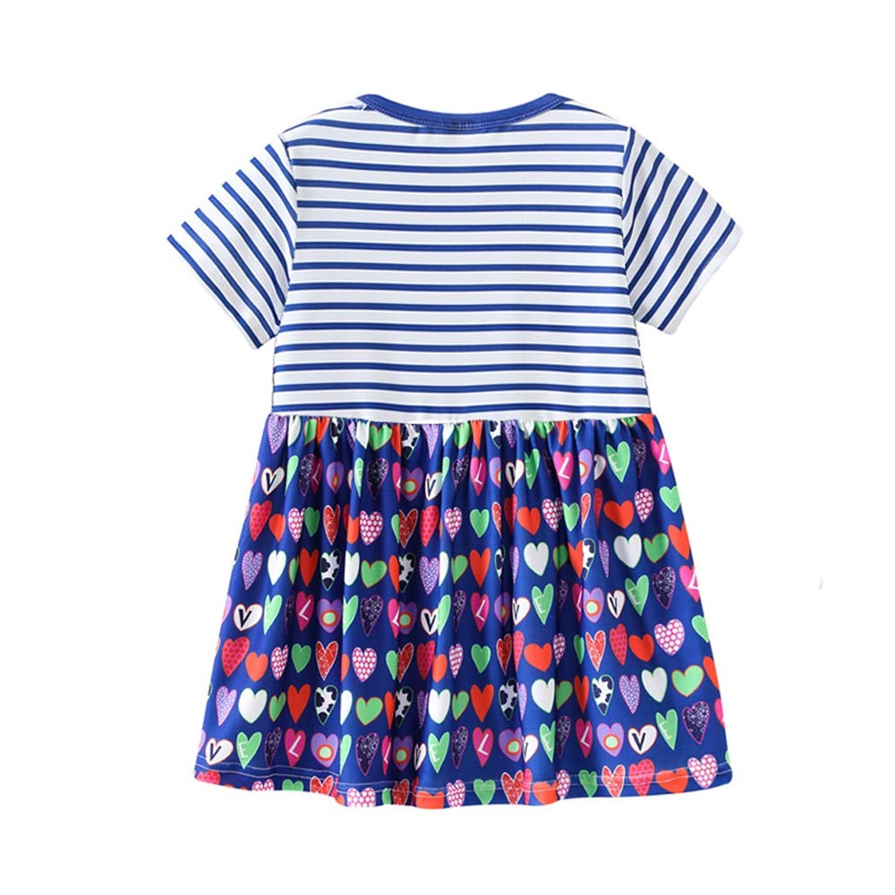 a477124110fa Amazon.com: 2019 New! Toddler Kids Baby Girl Dresses,Summer Cute Cartoon  Print Princess Striped Dress Sundress Outfits: Clothing