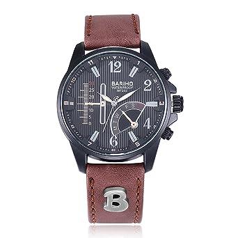 8e91b58f54 Rockyu ブランド 人気 腕時計 メンズ 男性 オシャレ 防水 サファイアガラス 海外ブランド ブラウン メンズ時計