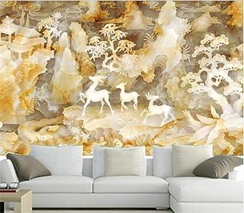 El último fondo de pantalla en 3D, pintura de talla de jade chino hermoso en 3D, sofá de la sala de estar del sofá de la sala de estar del televisor: Amazon.es: