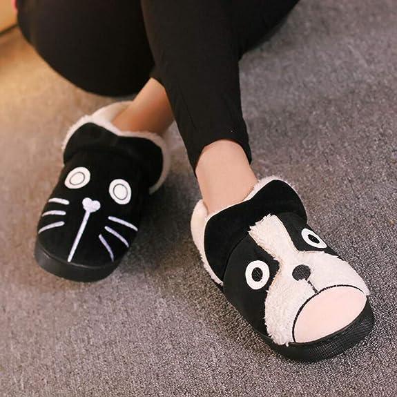 Zapatillas de Estar por casa para Niñas Niños Invierno Suave Algodón Casa Zapatos Pantuflas con Comodidad Antideslizante Zapatillas de Mujer Hombres: ...