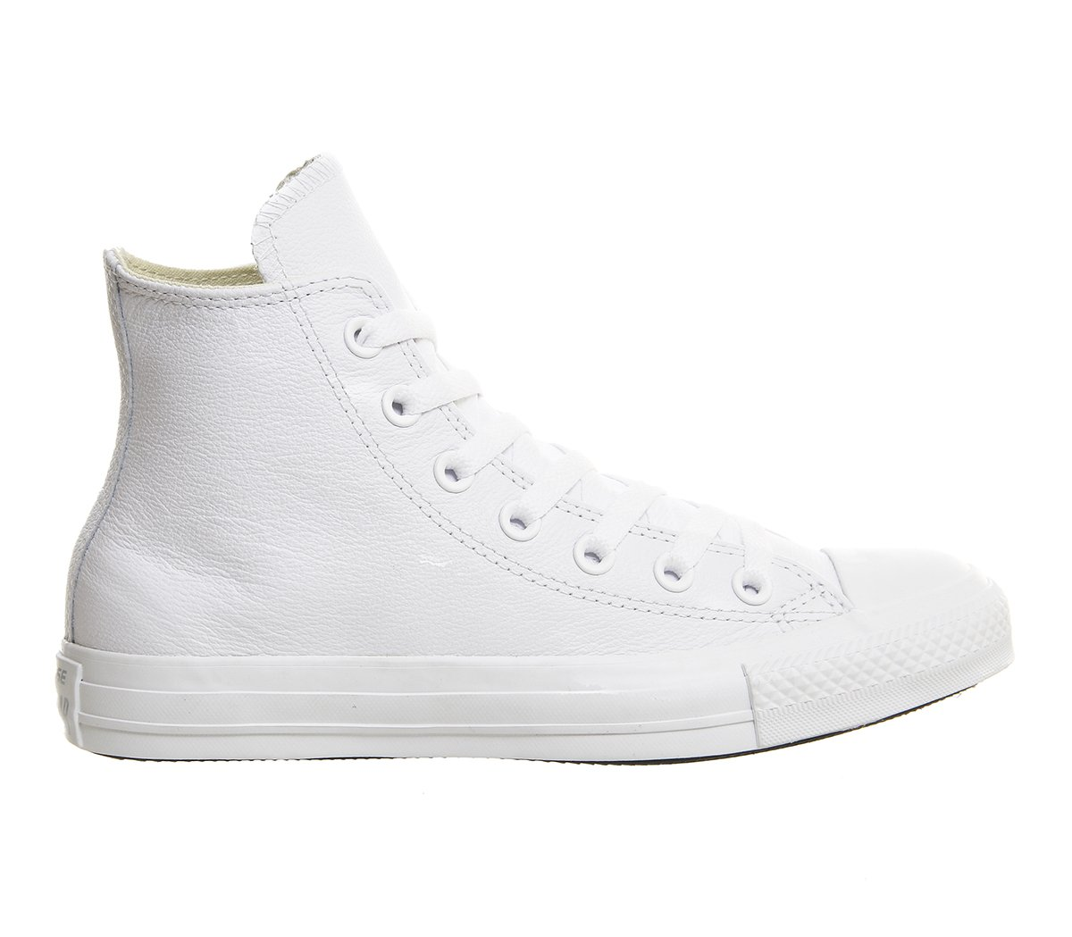Converse Chuck Taylor All Star Leather High Top Sneaker B01GB3ULUS 4.5 D(M) US|White Mono