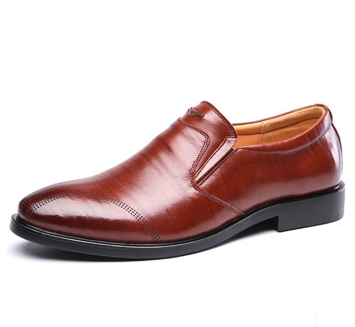 SHANGWU Zapatos Casuales De Cuero para Hombres Zapatos Casuales para Hombres Zapatos De Vestir para Negocios Zapatos De Cuero De Ganado De Alta Calidad Hechos A Mano (Color : Marrón, Tamaño : 41) 41|Marrón