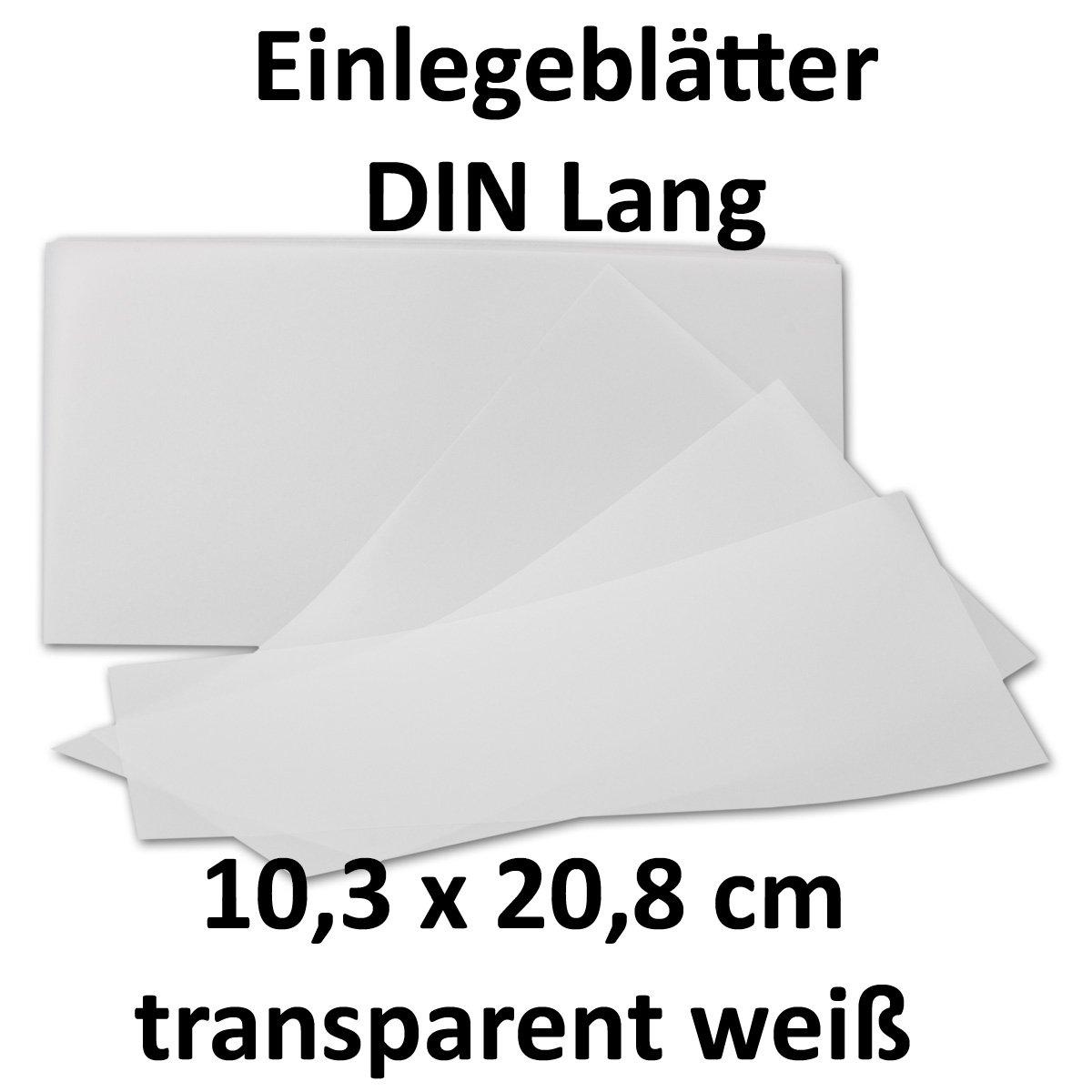 500x ungefalztes einfaches Einlege-Papier für DIN Lang Karten   transparent-weiß   103 x 208 mm   ideal zum Bedrucken mit Tinte und Laser   hochwertig mattes Papier von GUSTAV NEUSER® B07CM1P6D9 | Preiszugeständnisse