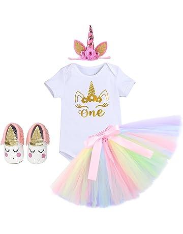 ed2aad837b72 Newborn Baby Girls It s My 1st Birthday Cake Smash Photo Shoot 4pcs Outfits  Infant Princess Unicorn