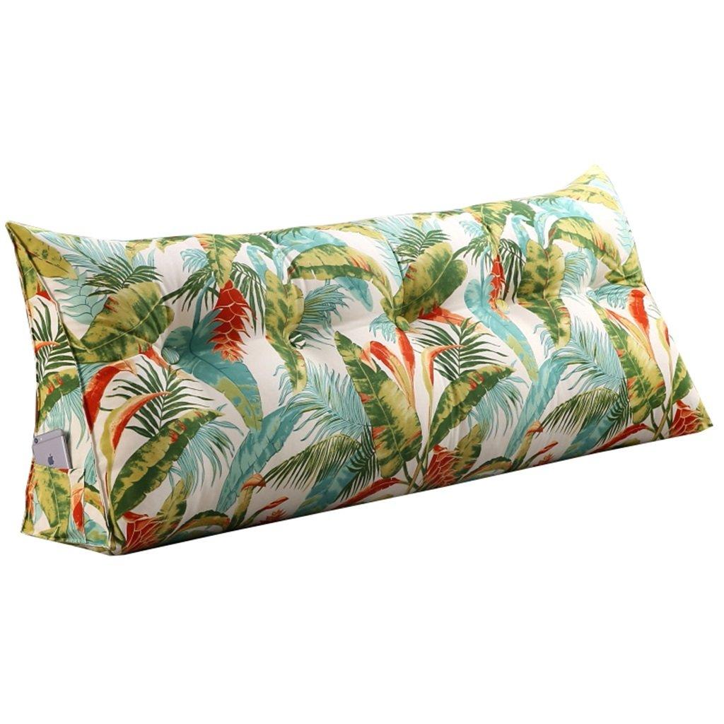QDY-Lendenkissen Großes gefülltes dreieckiges Sofa-Bett-Rückseiten-Kissen Lesekissen mit entfernbarem Abdeckungs-Keil (die Länge im Bild ist 150cm) (größe   60cm)
