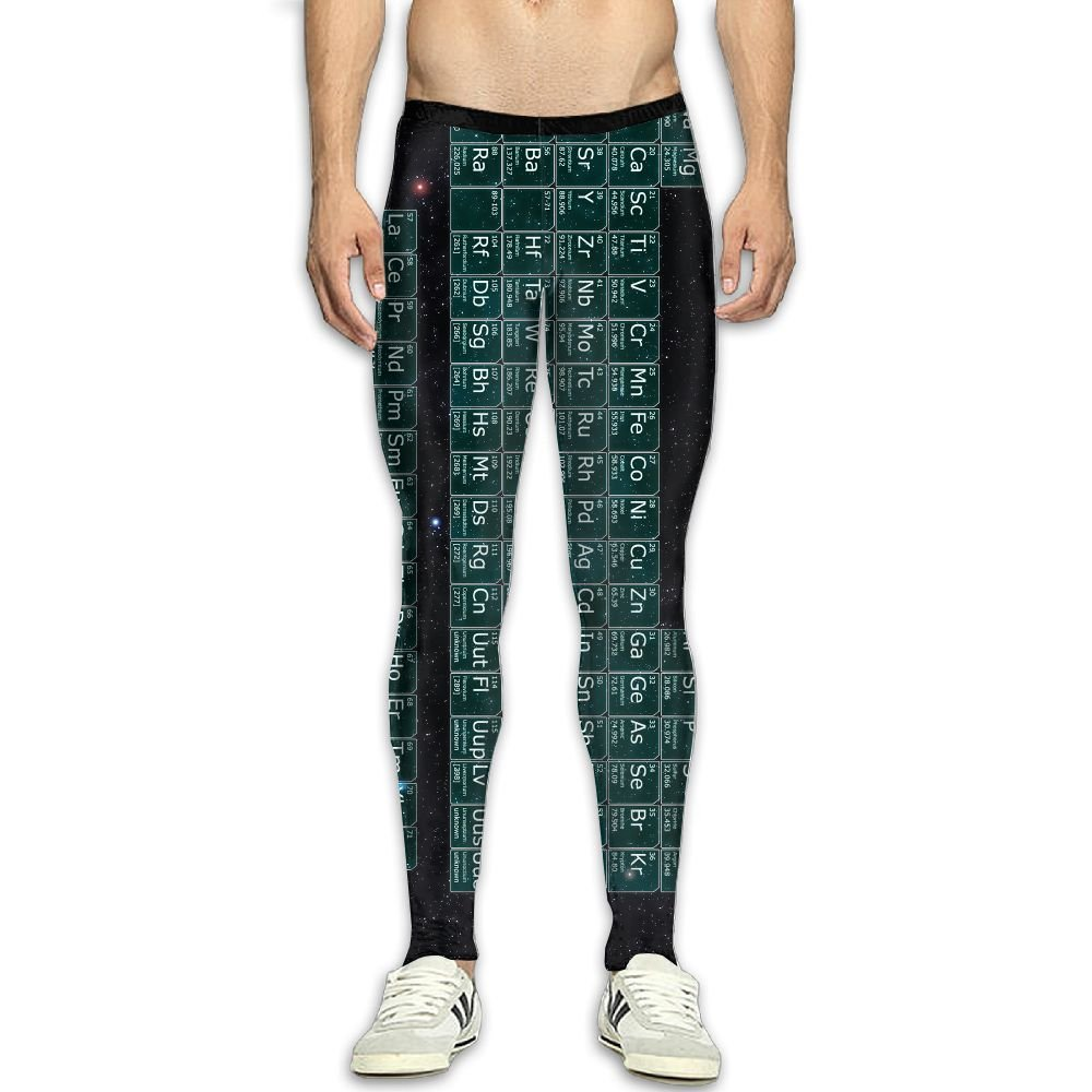 94e3b9a22d776 PeriodicTable-Space Men's Men's Men's Fitness Compression Pants Sports  Leggings Tights Baselayer Yoga Trousers cbffab