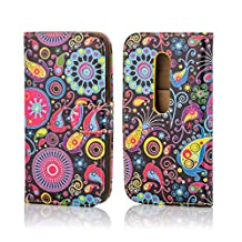 32nd® Design book wallet PU leather case cover for Motorola Moto G 3 (3rd Gen / 2015 edition) + screen protector and cleaning cloth - Jellyfish