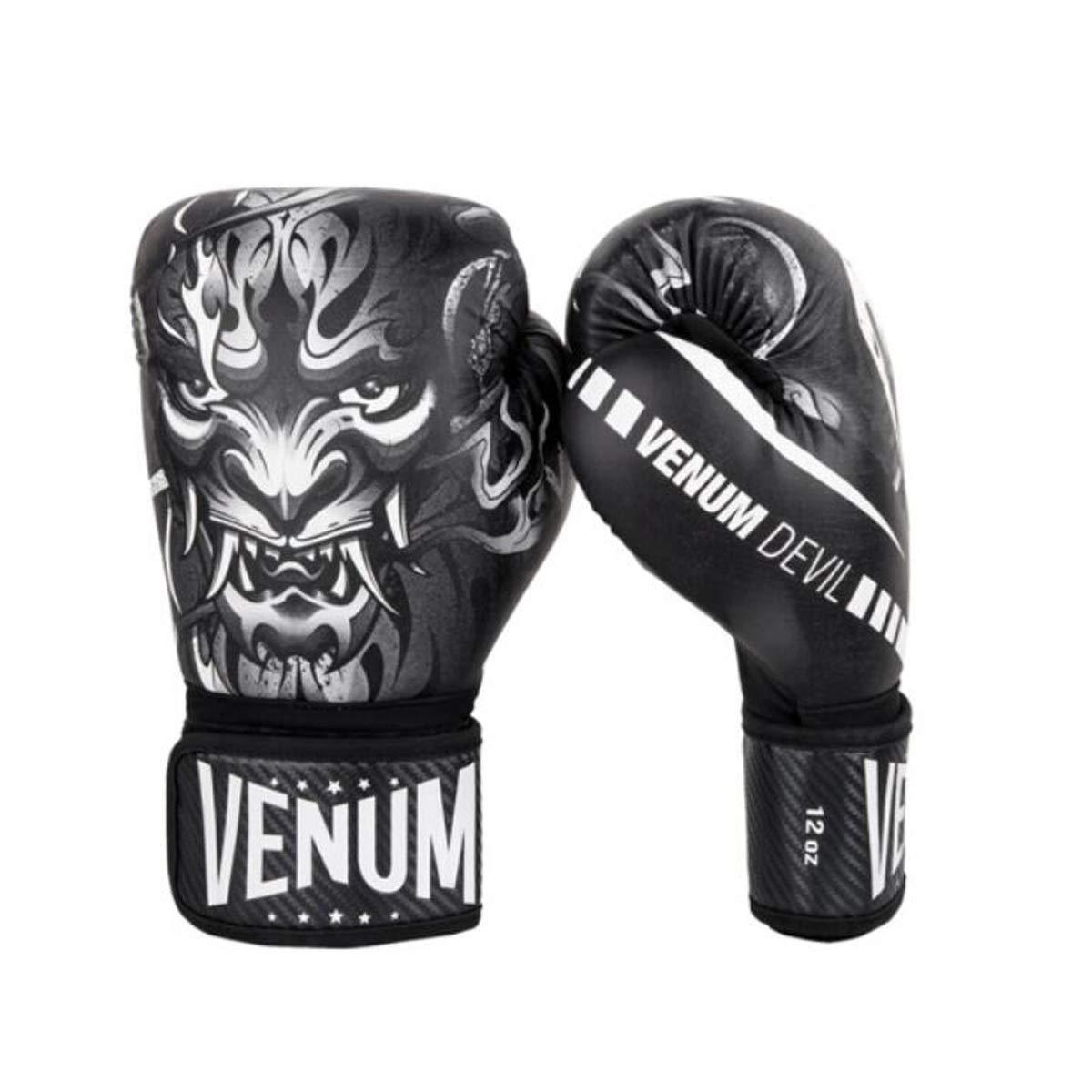 ZHIC ボクシンググローブ、ファイトボクシンググローブ、サンドバッググローブ、ホワイトブラック-8 OZ Life is movement 黒 8 OZ