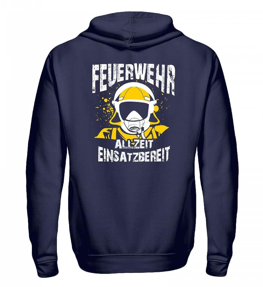 Feuerwehr Shirt · Geschenk für Feuerwehrmänner Frauen · Spruch  Allzeit einsatzbereit - Zip-Hoodie