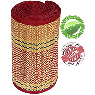 CLEARANCE ITEMS - Yoga Mats - 3x6 Feet Floor Mat/Beach Mat/Picnic Mat/Fitness Exercise Mat for Indoor & Outdoor-Handmade Eco Friendly & Non Toxic Foldable Extra Long/Wide Straw Mats