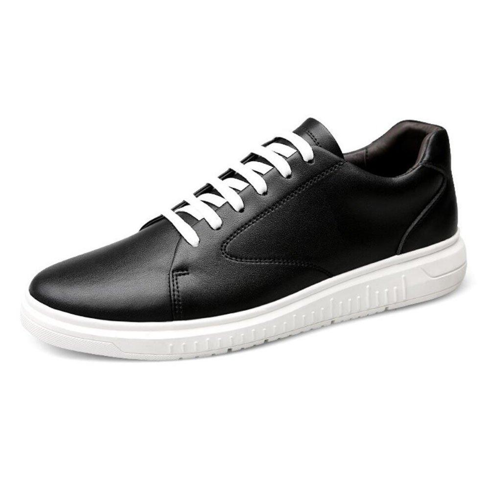 Männer Board Schuhe 2018 Frühling Herbst Winter Komfort Atmungsaktiv Täglich Reise Büro Freizeitschuhe Mens Casual Leder Single schuhe (Farbe   Weiß, Größe   38)