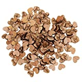 MagiDeal Pack of 200 Rustic Love Heart Wooden Pieces for Wedding Table Decoration Craft Art