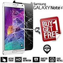 BisLinks® 100% Genuine Tempered Glass LCD Screen Protector Film For Samsung Galaxy Note 4