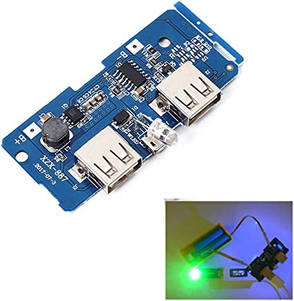 5V 2A Power Bank Mobile Charger Dual USB Output Board Circuit Step-Up Module