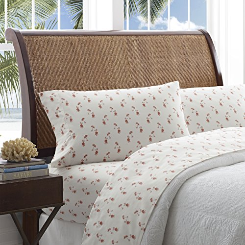 Tommy Bahama Waikiki Beach Sheet Set, Full, Coral