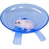 Hamster Flying Saucer Silent Running Exercise Wheel for Gerbil Rat Mouse Hedgehog Small Animals (Blue)