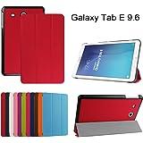 """Samsung Galaxy Tab E 9.6 Ultra Custodia,Mama Mouth Ultra sottile di peso leggero con supporto in Piedi caso Case per 9.6"""" Samsung Galaxy Tab E 9.6 T560 T561 Android Tablet,Rosso"""