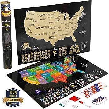 Amazon.com: Maps International Scratch Off Map Of The US - USA Wall ...