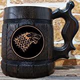 House Stark Mug, Winter is Coming, Jon Snow, Game of Thrones Gift, GoT, Game of Thrones Inspired Gift, Beer Tankard, GoT Stein, Copper Label, GT06C