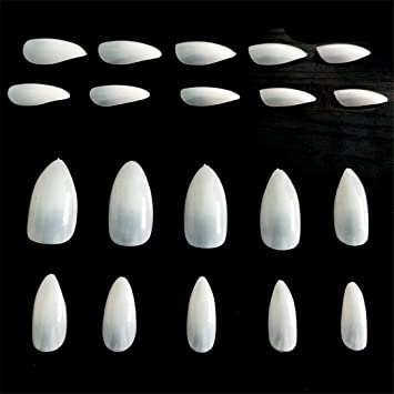 Amazon.com : 100PCS Full Cover Natural Almond Nails Artificial Nep Nagels Nail Tips Oval Fake Stiletto Nails Tips Unas Postizas JZJ013 : Beauty
