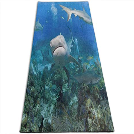 Amazon.com : REDCAR Tiger Shark from Coral Reef Yoga Mat-All ...