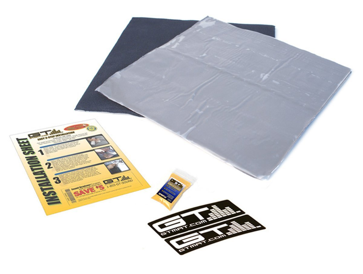 GTMat 3 SqFT Quadro 120mil Four Layer (12'' x 12'' 3 Sheets) Truck Audio Sound Deadener Dampening Self Adhesive Soundproofing Material