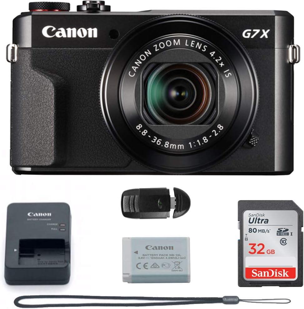 Canon PowerShot G7 X Mark II (Black) International Version - 32GB Basic Accessories Bundle