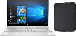 "2020 HP Envy 13.3"" 4K UHD IPS Touchscreen Premium Laptop PC, Intel Quad-Core i7-1065G7, 8GB RAM, 256GB SSD, Backlit Keyboard, Fingerprint Reader, Windows 10 Home, w/ WOOV Accessory Bundle"