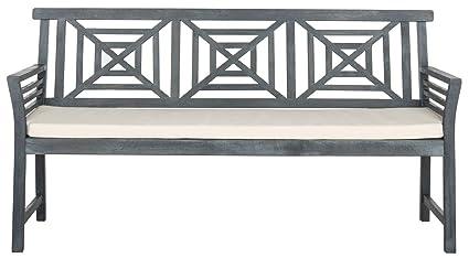 Magnificent Amazon Com Safavieh Pat6737B Outdoor Collection Del Mar 3 Lamtechconsult Wood Chair Design Ideas Lamtechconsultcom