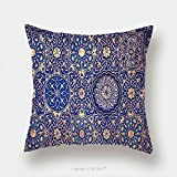 Custom Satin Pillowcase Protector Gold And Blue Ceiling In A Muslim Mosque Islamic Traditional Religious Ornament 382581241 Pillow Case Covers Decorative