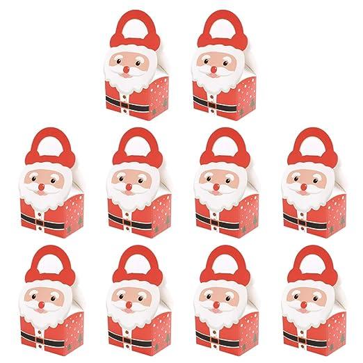 NUOBESTY cajas tratar regalo 10pcs de la Navidad con cajas ...
