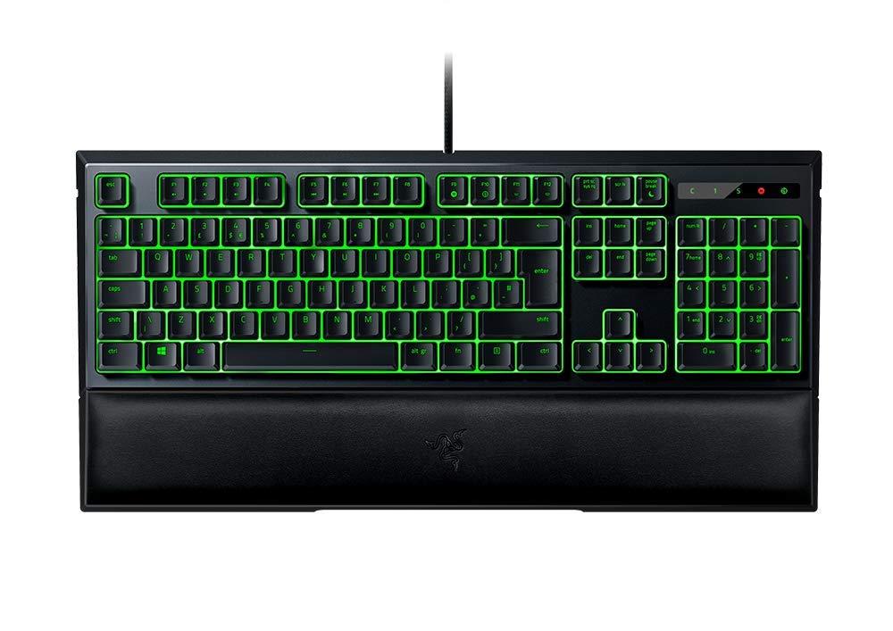RAZER ORNATA EXPERT Mecha-Membrane – Individually Backlit Mid-Height Keys – Leatherette Wrist Rest – Gaming Keyboard – Gaming Keyboard