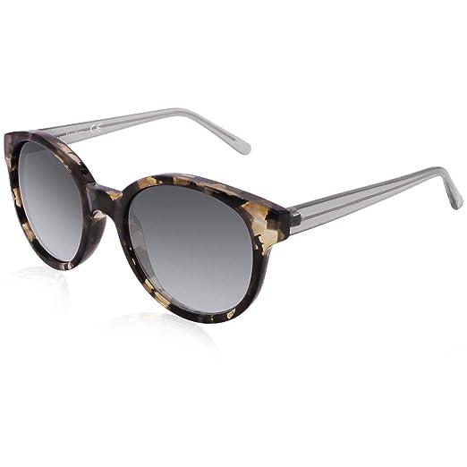 a402a55056 FaceWear Classic Round Retro Sunglasses Gradient UV400 Glasses for Women  FW2009 C1 grey tortoise