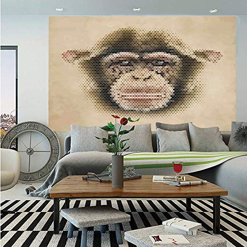 - SoSung Tropical Animals Wall Mural,Various Kind of Wild Animal Species Band with Camel Giraffe Distinct Creatures,Self-Adhesive Large Wallpaper for Home Decor 83x120 inches,Multi
