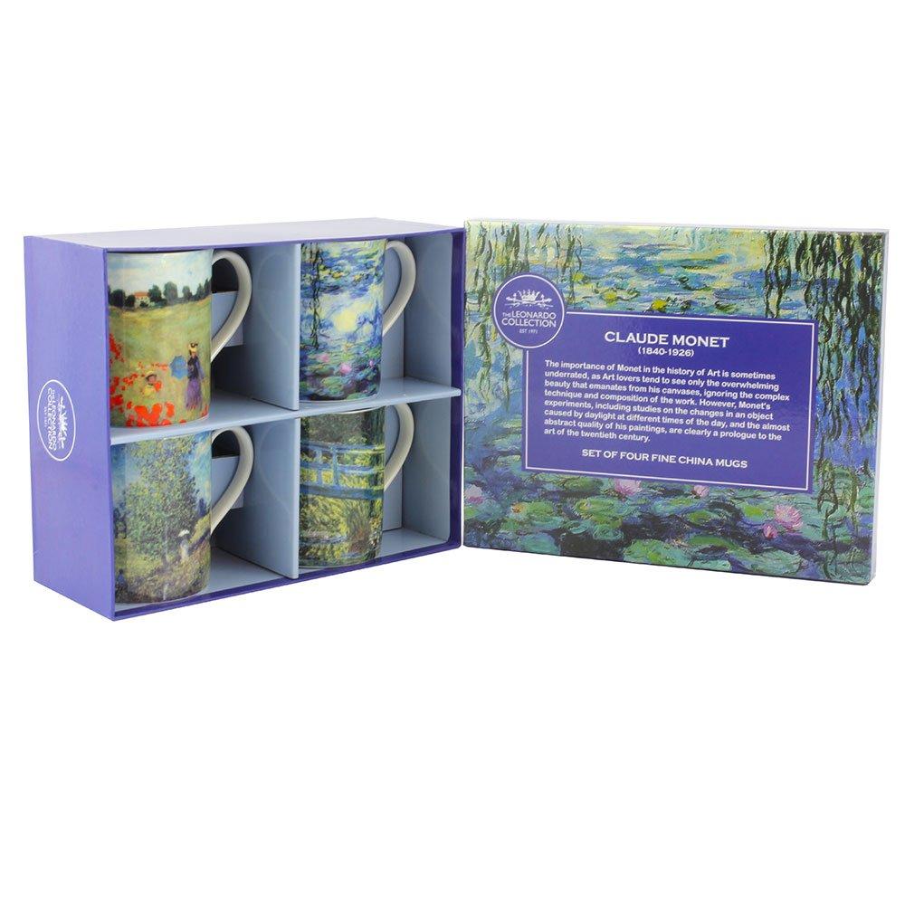 Leonardo Collection Lot de 4Mugs Monet, Lesser & Pavey Ltd uk home LESGY