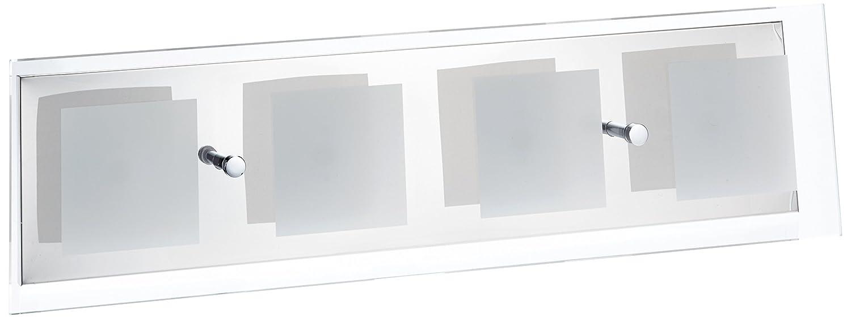 Trio Leuchten LED-Wandleuchte chrom, Glas klar / satiniert 227970206 [Energieklasse A+] [Energieklasse A+] 227970206_Cromato