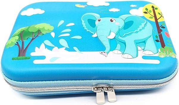 ZF - Estuche de Goma EVA para lápices, para Estudiantes, niñas, niños, Adolescentes, niños, Elefantes (Azul): Amazon.es: Electrónica