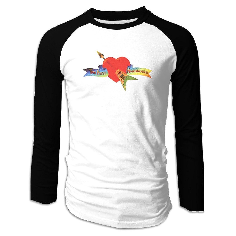 6d083e3fe Amazon.com: Mens Tom Petty And The Heartbreakers Logo Raglan Baseball T- Shirt: Clothing
