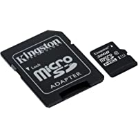 Kingston Digital SDCS/32GB Memory Card with Adapter Micro SDHC Class 10 UHS-I 80MB/s R 10MB/s W Flash