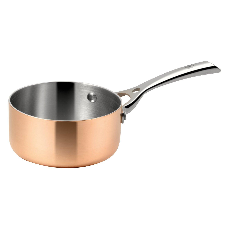 Profesional salsas olla de cobre calentador de mantequilla de 3 Capa de material para especiales conductividad térmica. Cobre, Aluminio, Acero inoxidable.