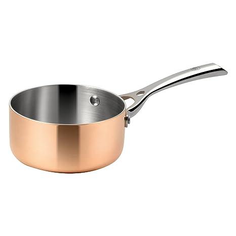 Profesional salsas olla de cobre calentador de mantequilla de 3 Capa de material para especiales conductividad
