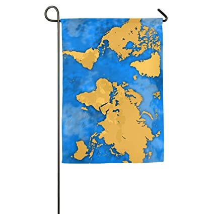 Map Of Just Asia.Amazon Com Gagh Garden Flag Double Sided Africa America Antarctica