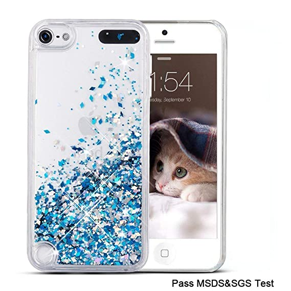 new concept 04689 5aea0 Maxdara iPod 5 Case, iPod 6 Case, Glitter Liquid Floating Bling Sparkle  Quicksand Case for Girls Children for Apple iPod Touch 5th/6th Generation  ...