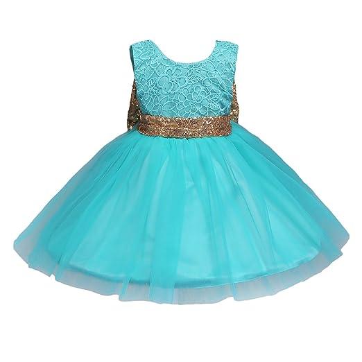 Amazoncom Jiaduo Baby Girl Lace Mesh Tutu Dress Sequin Bow Toddler