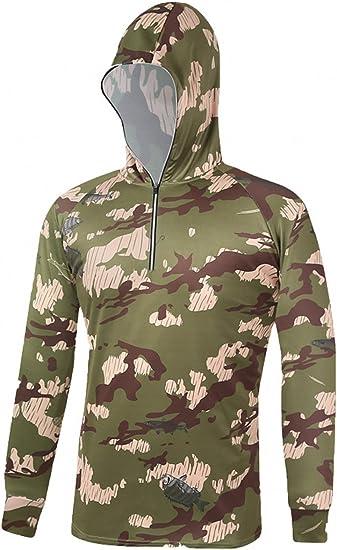Men/'s Camoflauge Long Sleeve Hoodies Hood Zipper Causal Tops Pullover Size S-XL