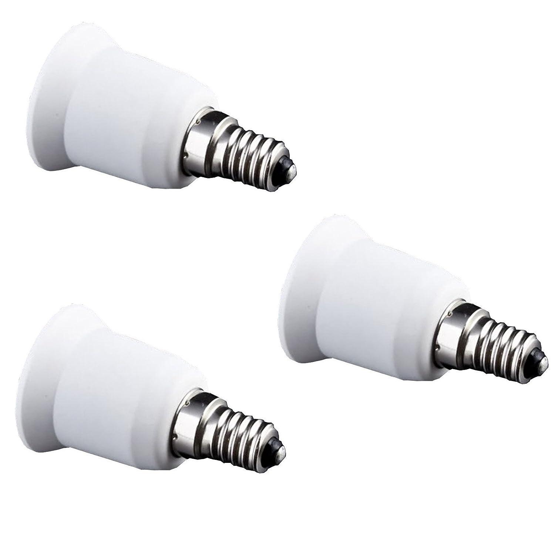 FINELED E14 to E27 Light Adapter Socket Base Converter for Light Lamp Bulb Holder Fitting(Pack of 3)) SM