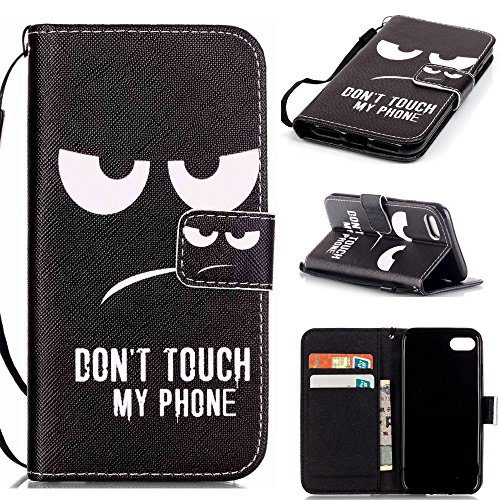 iPhone 7 Flip Case,XYX [Do not Touch My Phone] - [Kickstand][Wallet][Card Slot][Flip][Slim Fit][Hand Strap] Premium Protective Case for iPhone 7